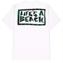 LIFE'S A BEACH Logo Jungle Tee-WHITE