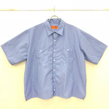 REDKAP REMAKE SHORT SLEEVE WORK SHIRTS-BLUE/WHITE