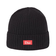 DIME RIBBED CASHMERE BEANIE BLACK