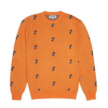 FUCKING AWESOME Flies Knitted Sweater-ORANGE