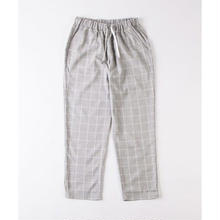GRIND LONDON RELAXED BRUSHED CHECK TROUSER - GREY
