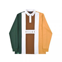 HELAS HERMANO L/S POLO GREEN/BROWN/CLEAR BROWN