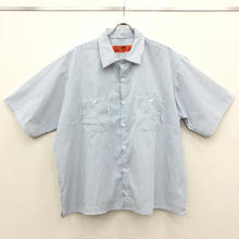 REDKAP REMAKE SHORT SLEEVE WORK SHIRTS-WHITE/CHACOAL