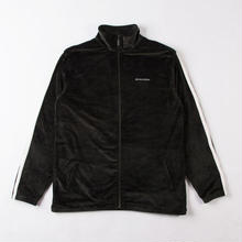 GRIND LONDON VELOUR JACKET - BOTTLE GREEN