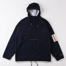 GRIND LONDON FLEECE TREK-TOP - NAVY