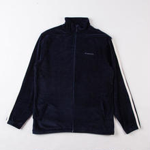 GRIND LONDON VELOUR JACKET - NAVY