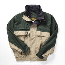 COBRACAPS TRI COLOR JACKET - GRN / KH / NVY