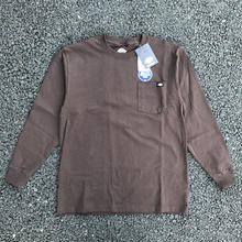 DICKIES Long Sleeve Heavyweight T-Shirt - Dark Brown