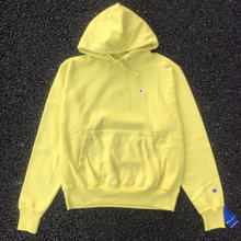 CHAMPION 1 POINT REVERSE WEAVE HOODIE - LIGHT YELLOW