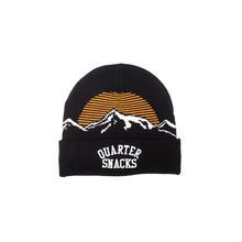 QUARTERSNACKS MOUNTAIN BEANIE - BLACK