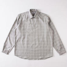 GRIND LONDON BRUSHED CHECK PULLOVER - GREY