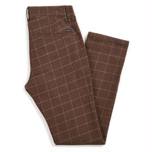 BRIXTON RESERVE CHINO PANT - BROWN PLAID