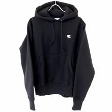 CHAMPION REVERSE WEAVE PULLOVER HOODIE - BLACK