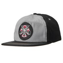 Independent x Thrasher Pentagram Cross Snapback Hat - Black / Grey