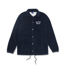QUARTERSNACKS FLEECE COACH JACKET - NAVY