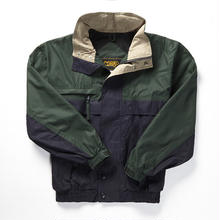COBRACAPS TRI COLOR JACKET - GRN / NVY / KH