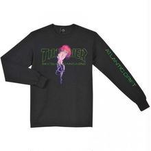 THRASHER  × Thrasher Atlantic Drift Long Sleeve T-Shirt - Black