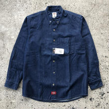 DICKIES Long Sleeve Denim Shirt -  Indigo Blue