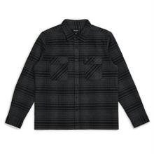 BRIXTON ARCHIE L/S FLANNEL - BLACK/HEATHER CHARCOAL