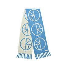 POLAR SKATE CO STROKE LOGO SCARF - POOL BLUE
