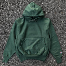 CHAMPION REVERSE WEAVE HOODIE - DARK GREEN
