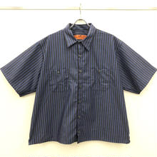 REDKAP REMAKE SHORT SLEEVE WORK SHIRTS-CHACOAL/BLUE