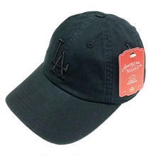 AMERICAN NEEDLE MLB 6PANEL CAP LOSANGELES DODGERS- BLACK/BLACK