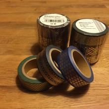 金箔のマスキングテープ(3本組)