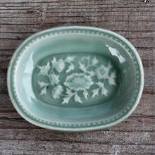 品番 t-0261 青磁 小判型小皿