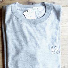 [受注製作]おすもうさん刺繍長袖Tシャツ/グレー