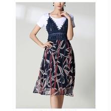 【セットアップ スカート】セットアップ スカート シフォン ミモレ丈 ひざ丈 半袖 大人 上品 かわいい きれいめ M,L,XL,XXL 送料無料