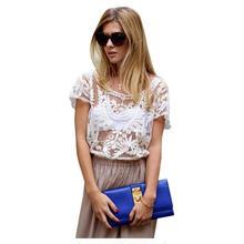 【tシャツ レディース】tシャツ レース レディース 半袖 セクシー カジュアル 白 カットソー ブラウス シャツ 6色 ワンサイズ 送料無料