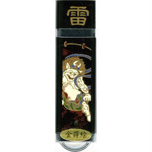 漆器 USBフラッシュメモリー16GB   雷神(桐箱入)
