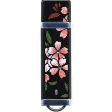 漆器 USBフラッシュメモリー16GB   スワロフスキー桜(桐箱入)