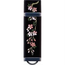 漆器 USBフラッシュメモリー16GB   しだれ桜(桐箱入)