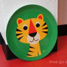 北欧雑貨 メラミンプレート 「 Tiger  (トラ)」