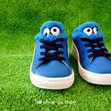 "● KID'S & BABY モデル ● PUMA 「 PUMA BASKET "" SESAME""  Cookie Monster (クッキーモンスター) 」"