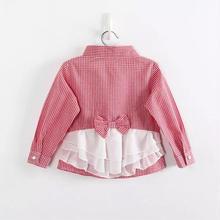 NEW♡子供服 ギンガムチェックフリルシャツ