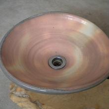 粉引変形一品物手洗い鉢