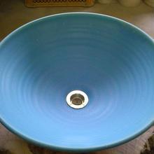 トルコブルー(大)手洗い鉢