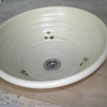 黄瀬戸点紋(大)手洗い鉢