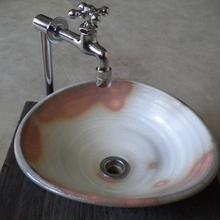 粉引変形一品物   手洗い鉢