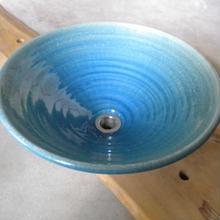 ウォーターブルー(大) 手洗い鉢 38㎝