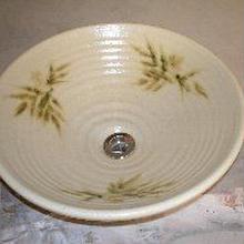 黄瀬戸南天(大)手洗い鉢