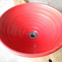 赤ガラス(大)手洗い鉢
