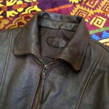 【SALE】 Nasngwam. 『STORM LEATHER JK brown』