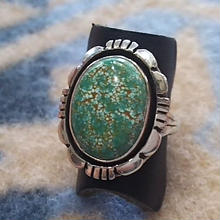 NAVAJO 『TURQUOISE(CARICO LAKE) RING (L.WILLIE) 14号』