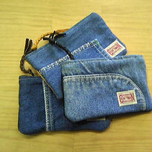 Nasngwam.×EARLY MORNING 『FASTENER POUCH Sサイズ (DENIM)』