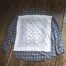 Nasngwam. 『RE:BANDANA SHIRTS (CHECK) M』