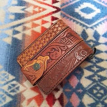 Nasngwam. OLD LEATHER WALLET (PATTERN)B』
